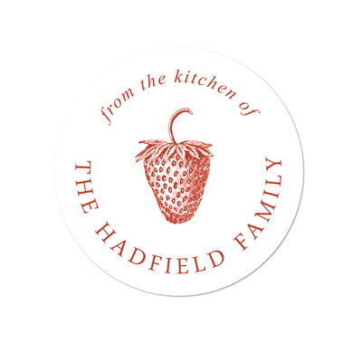 Strawberry Kitchen Labels