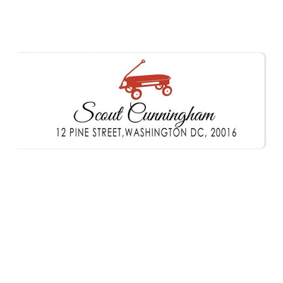 Red Wagon Address Labels
