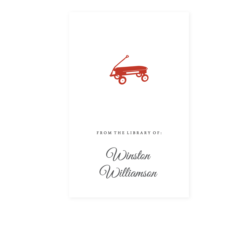 RED WAGON BOOKPLATE