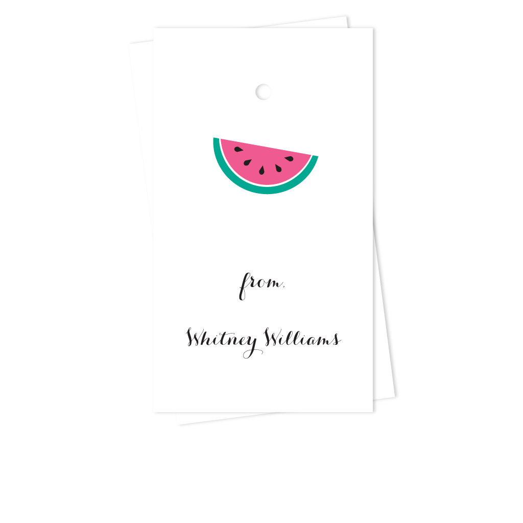 WATERMELON GIFT TAGS