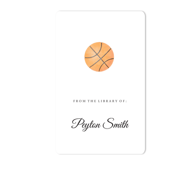 Basketball Bookplate