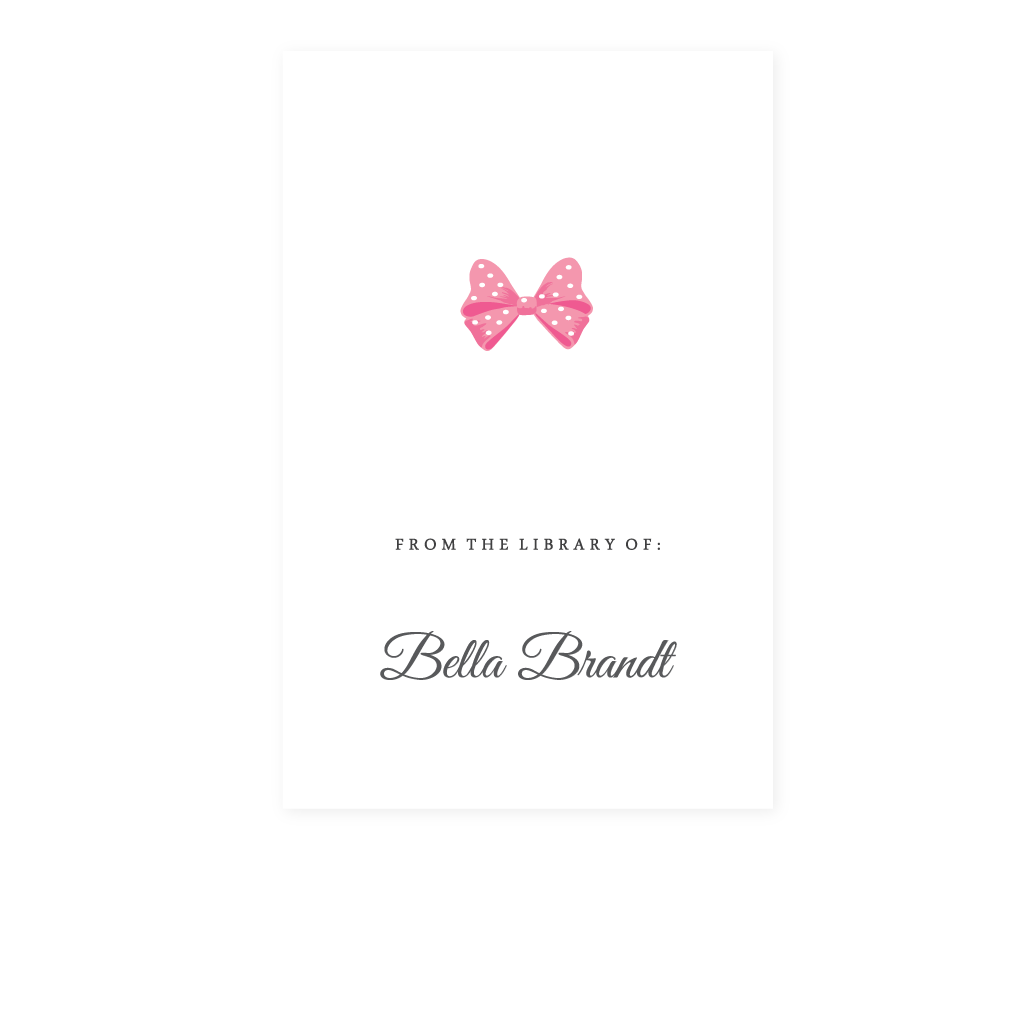 BOW BOOKPLATE