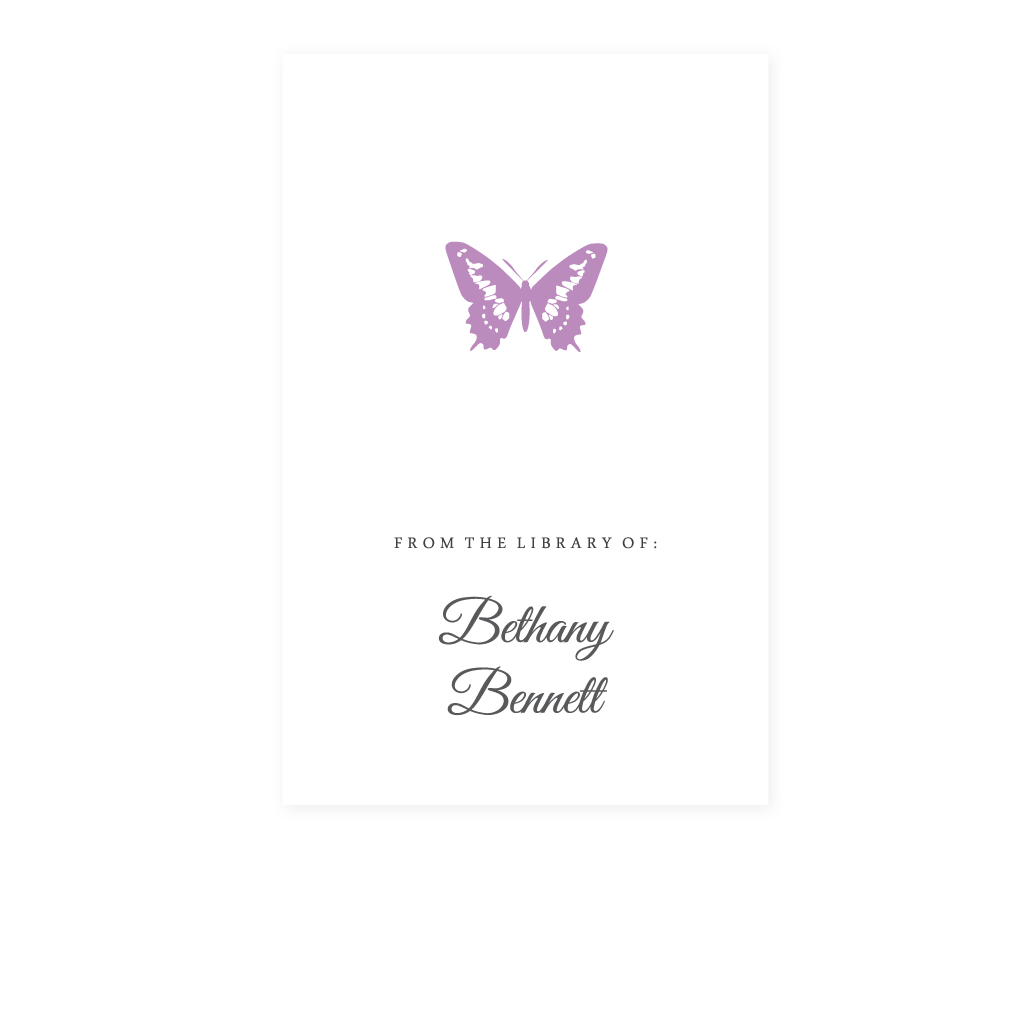 BUTTERFLY BOOKPLATE