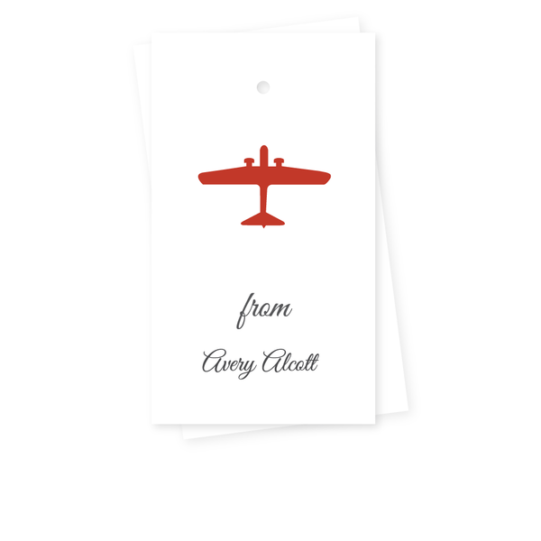 PLANE GIFT TAGS