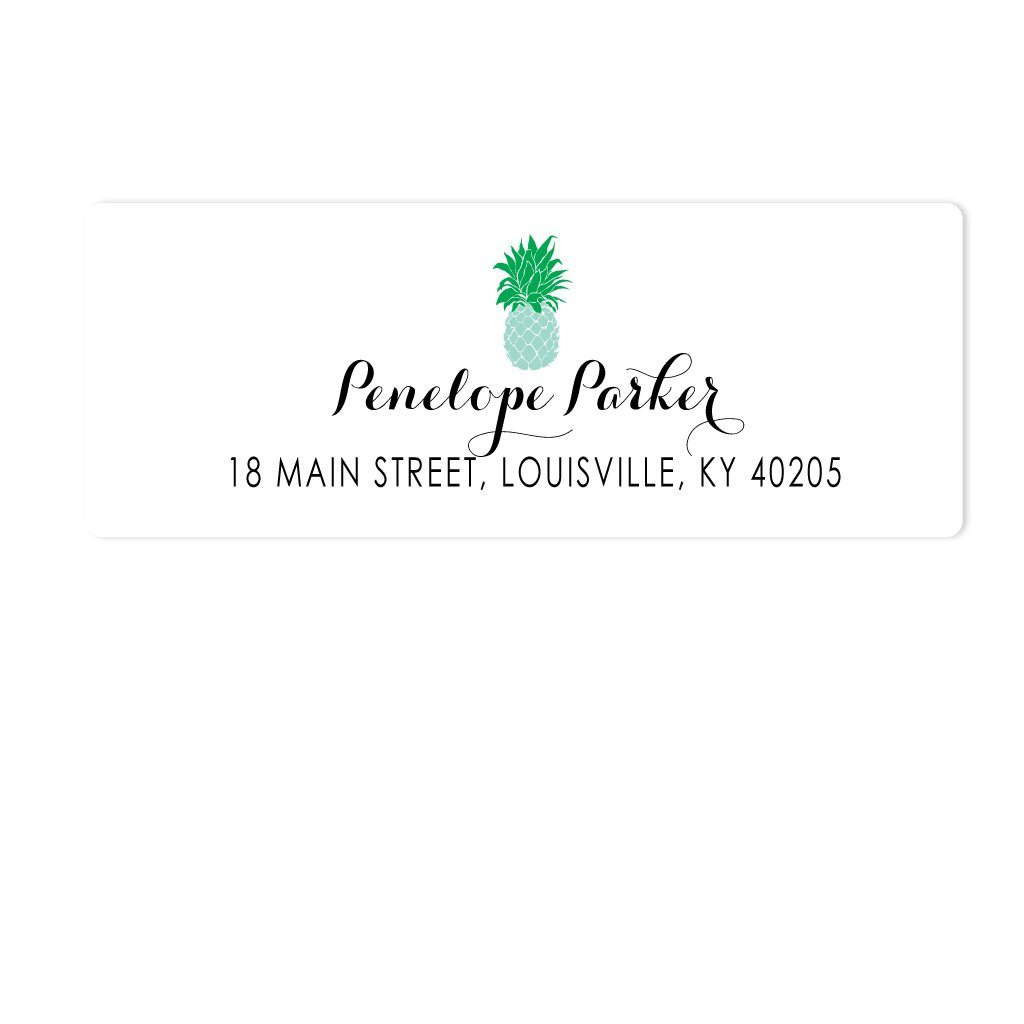 Pineapple Address Labels