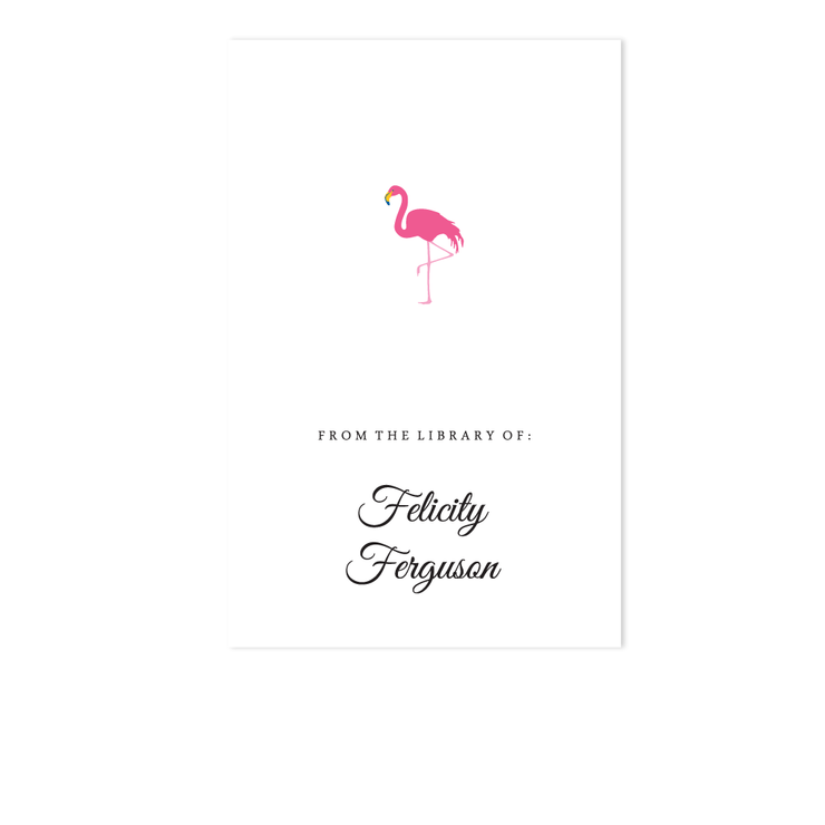 Flamingo Bookplate