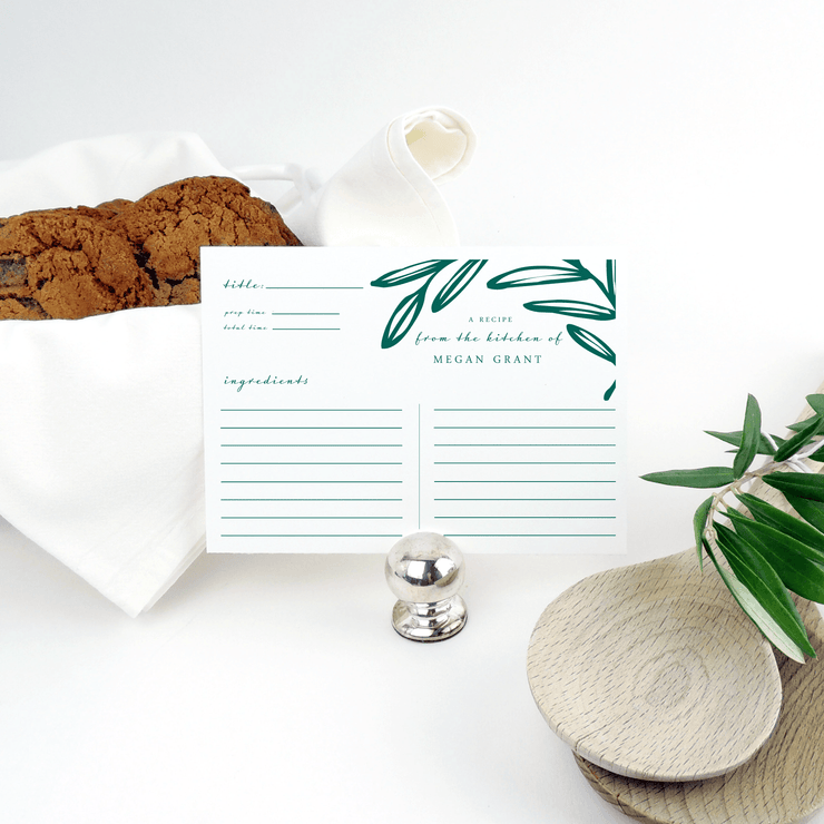 Olive Leaf Recipe Cards