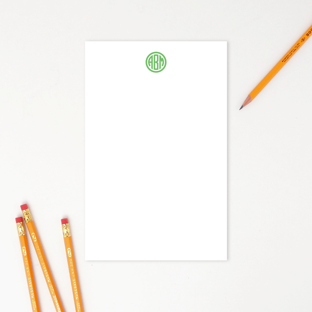 Circle Monogram Notepad