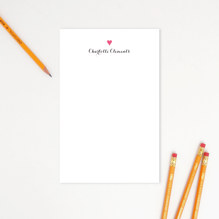Preppy Heart Notepad