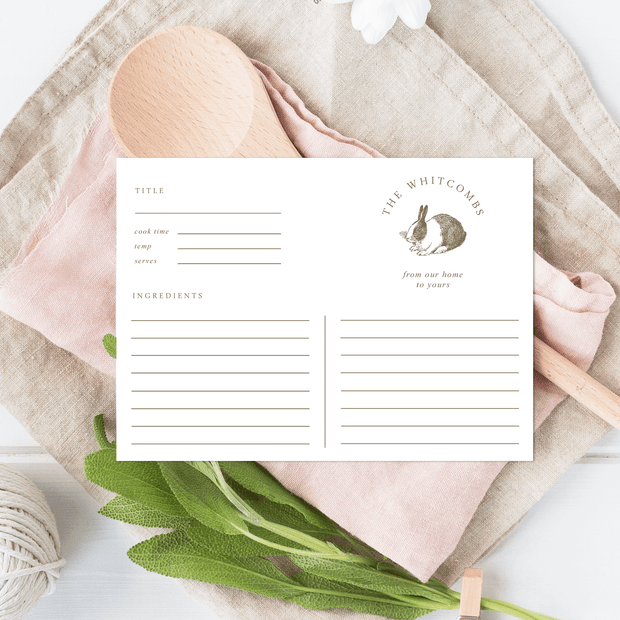 Rabbit Recipe Cards