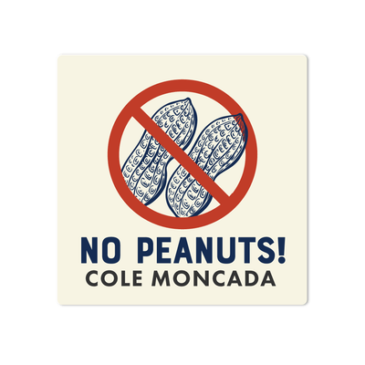 No Peanuts Name Labels