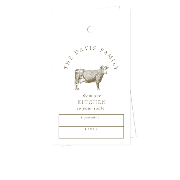 Cow Kitchen Gift Tags