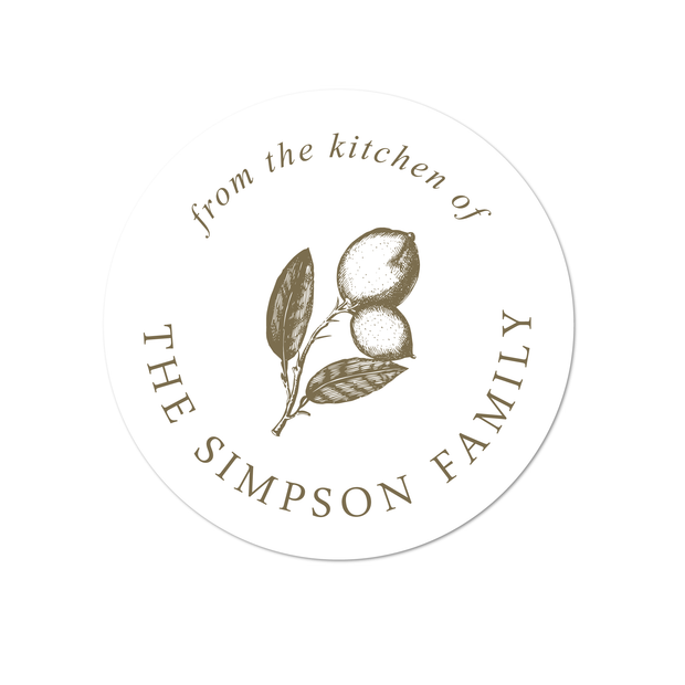 Lemon Kitchen Labels