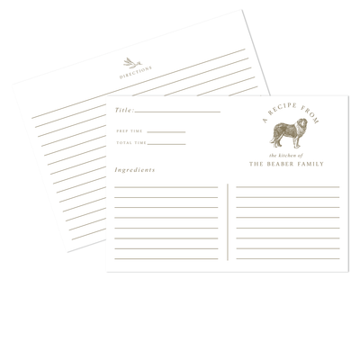 Dog Recipe Cards