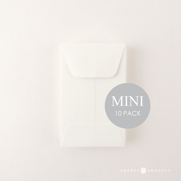 MINI WHITE ENVELOPES