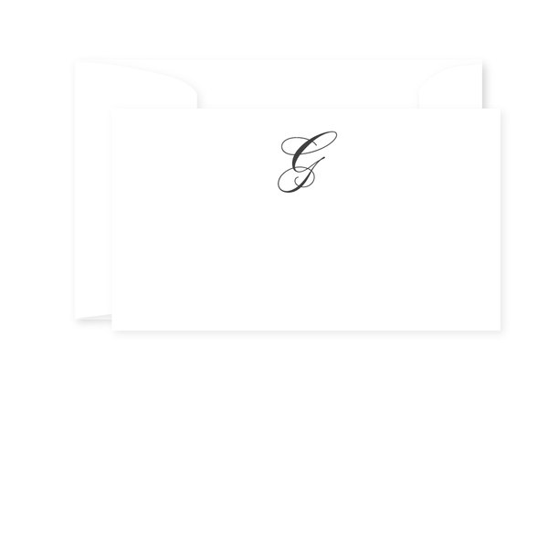 SCRIPT MONOGRAM GIFT ENCLOSURE