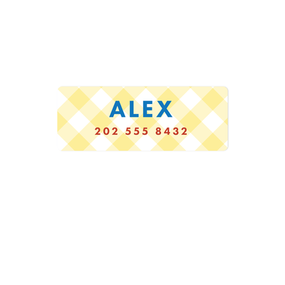 Gingham Name Labels