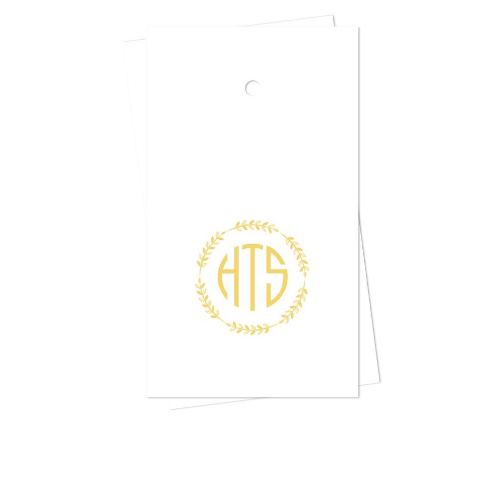 WREATH MONOGRAM GIFT TAGS