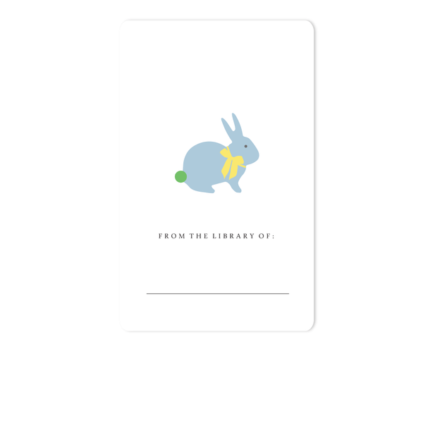 BUNNY BOOKPLATE, BLUE