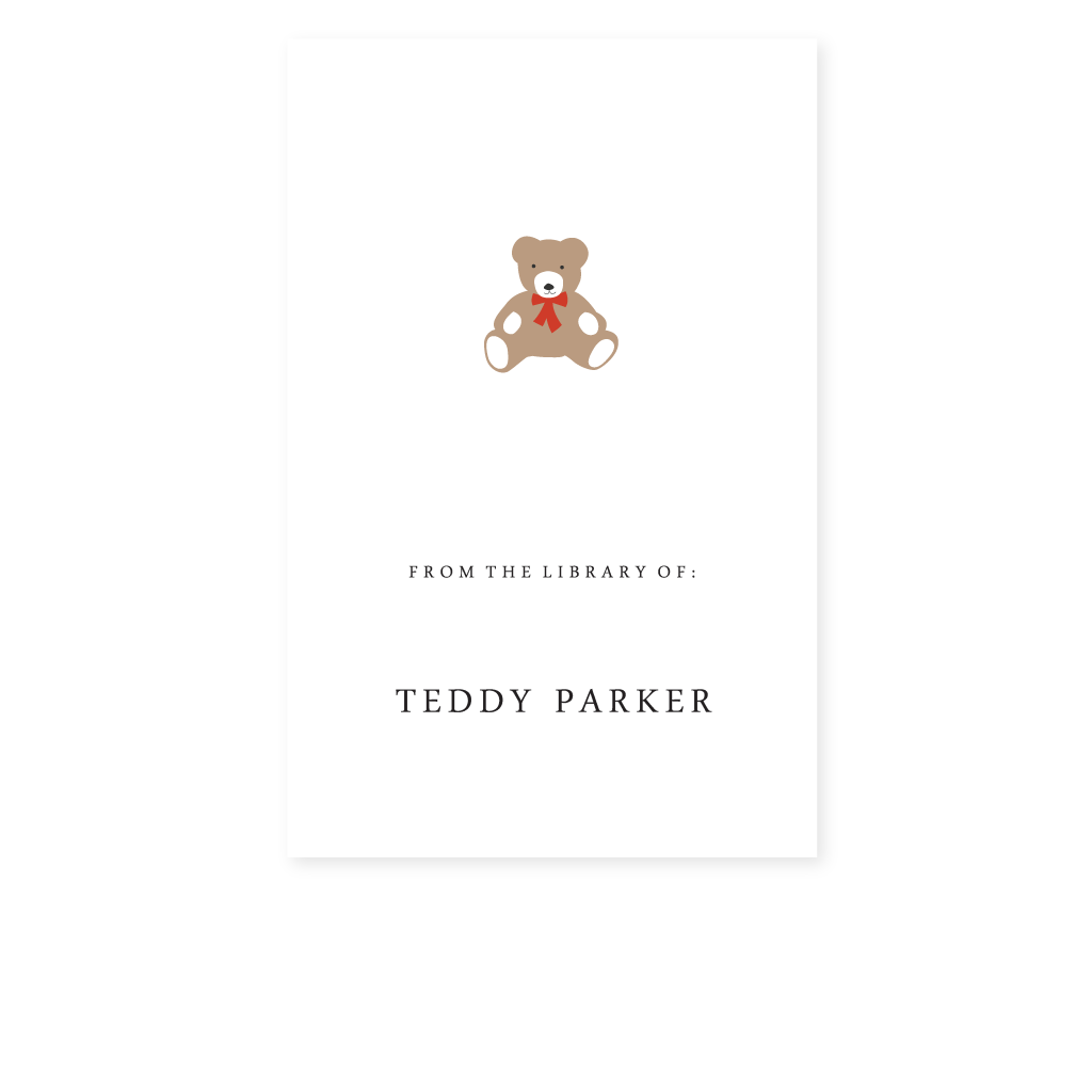 TEDDY BEAR BOOKPLATE