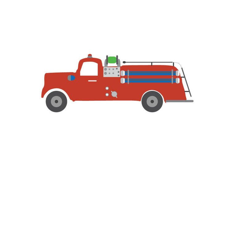 Fire Truck Thank You Notes