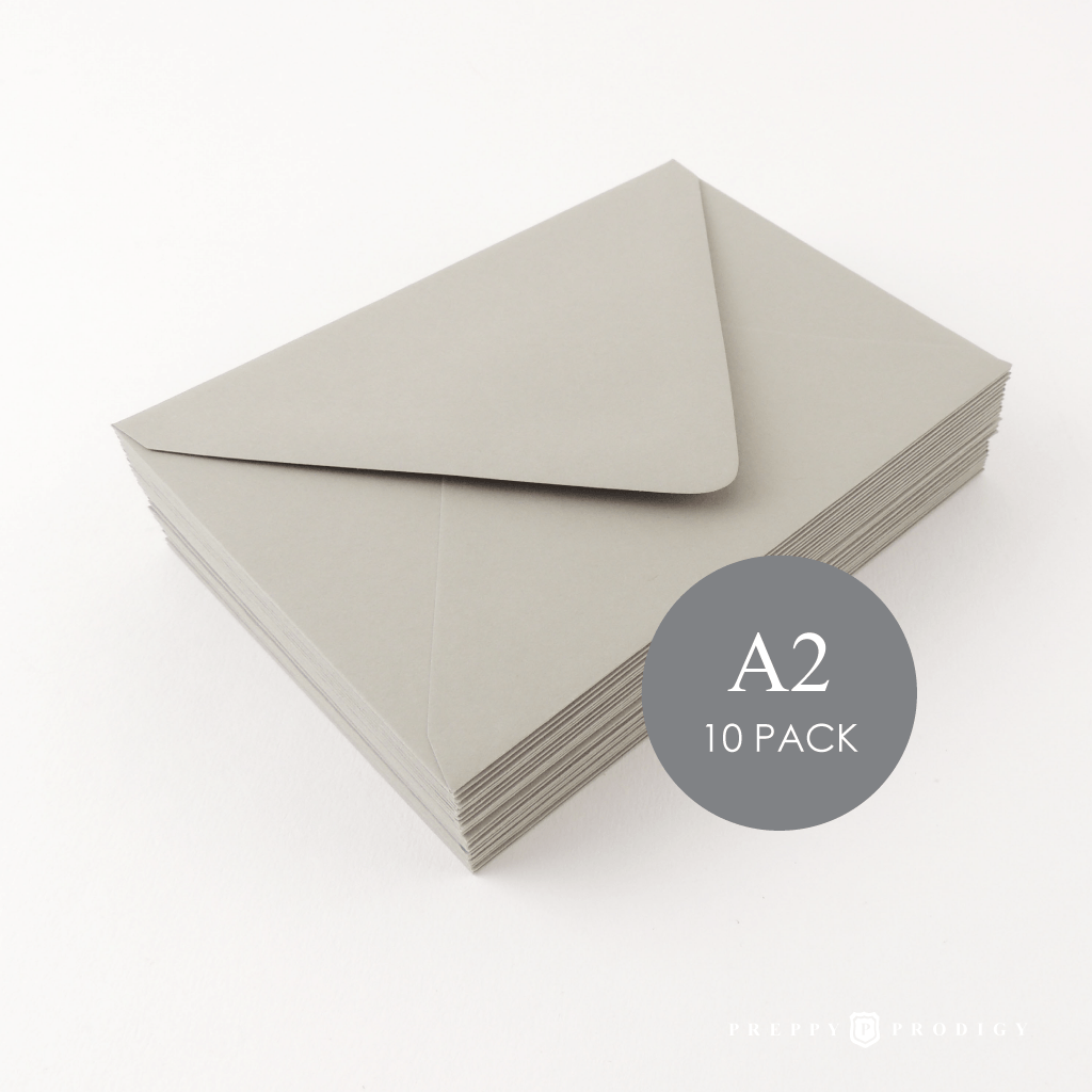 A2 GREY ENVELOPES