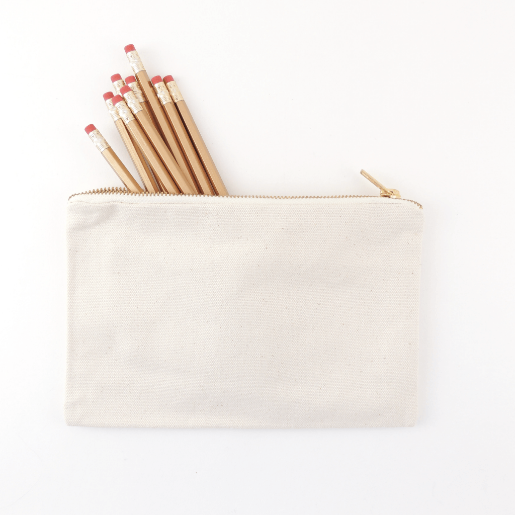 CANVAS PENCIL POUCH, LARGE