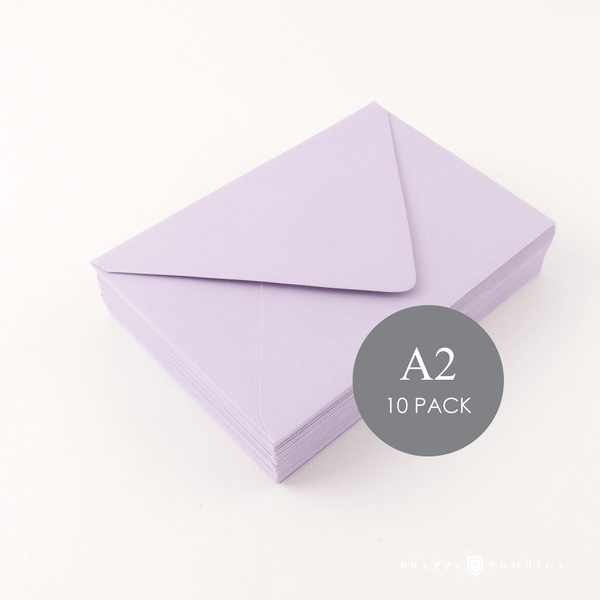 A2 LAVENDER ENVELOPES