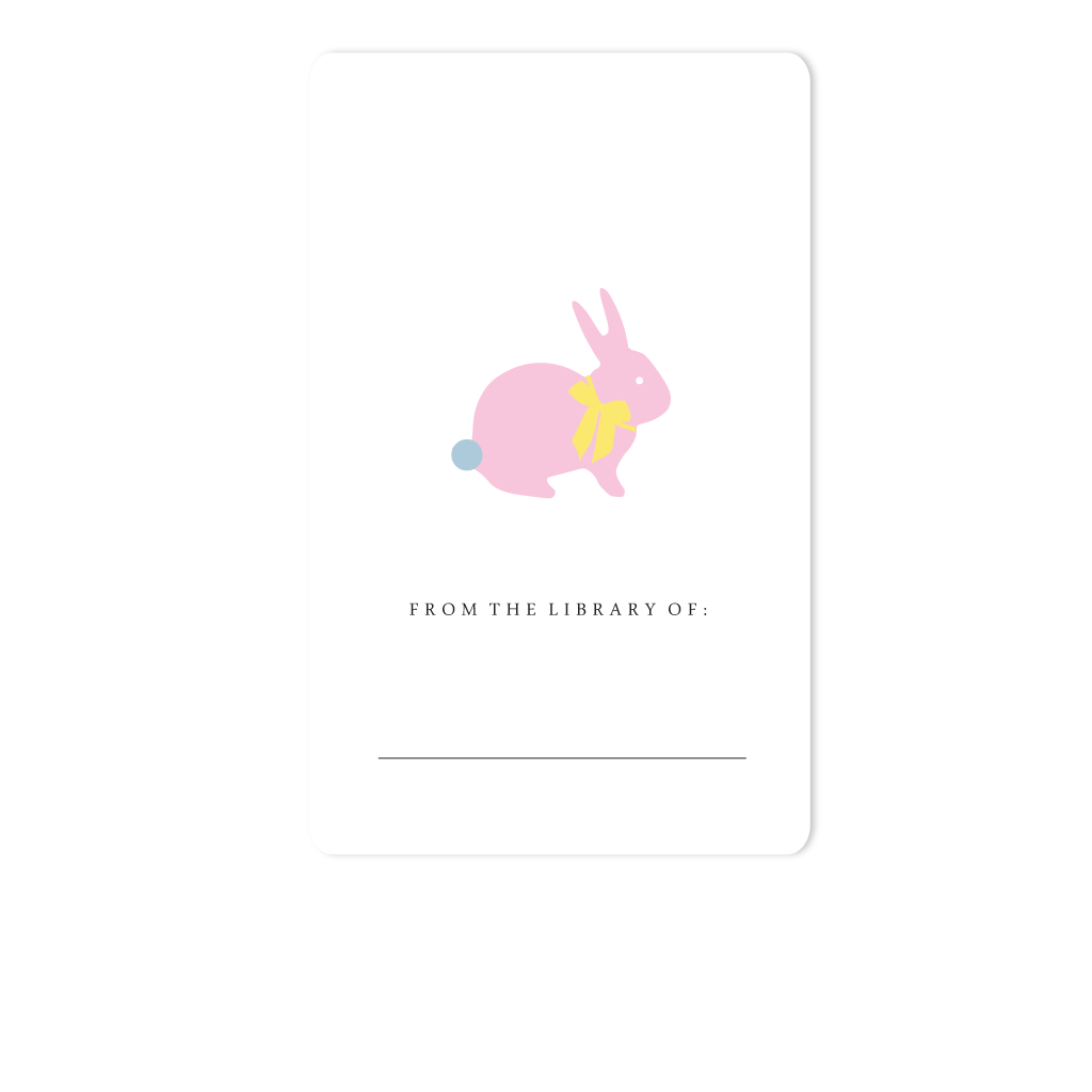 BUNNY BOOKPLATE, PINK