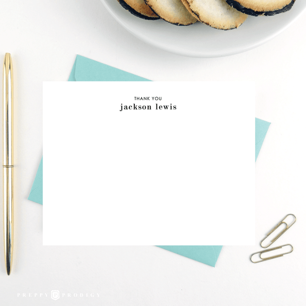 Simplicity Thank You Note