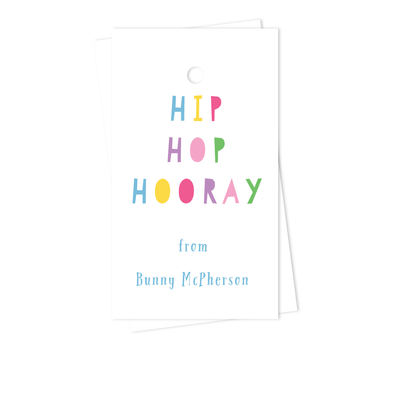 Hip Hop Easter Gift Tags