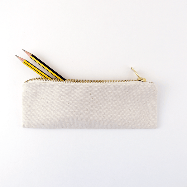 CANVAS PENCIL POUCH, SMALL