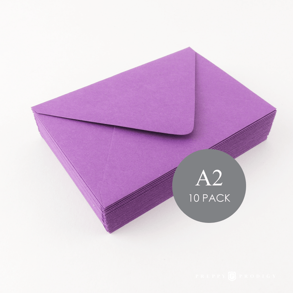 A2 PURPLE ENVELOPES