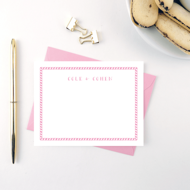 Hand Drawn Stripe Stationery