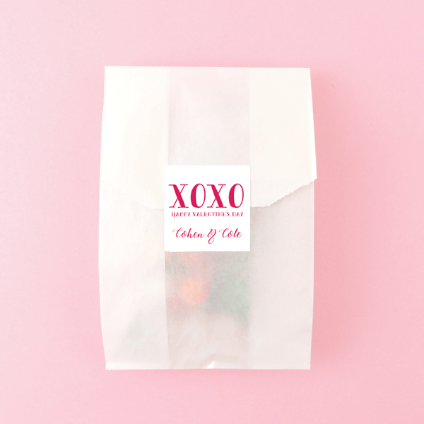 XOXO Valentine Stickers