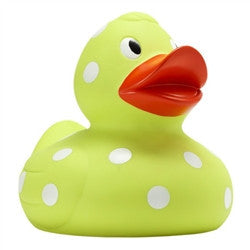 8 inch Lime Dot Duck - GDH | The decorators department Store