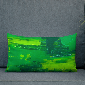 Rainbow Green Pillow