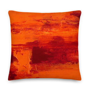 Rainbow Orange Pillow