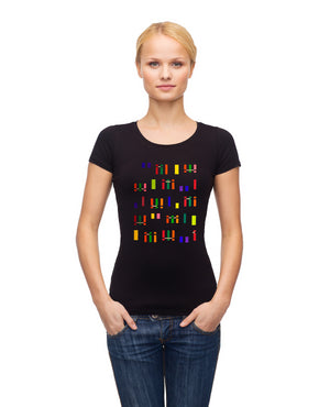 Women's Squares Organic Cotton T-Shirt