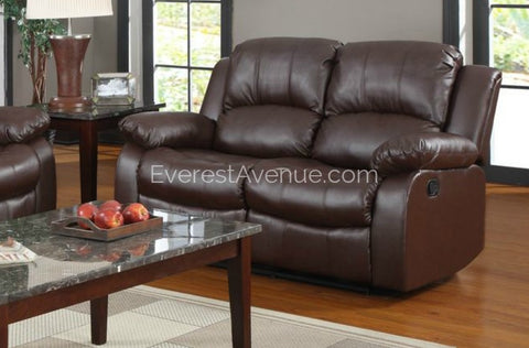 Lincoln - Motion Loveseat  in Brown or Black Bonded Leather