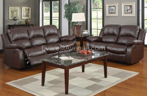 Lincoln - Living Room Set in Brown or Black Bonded Leather