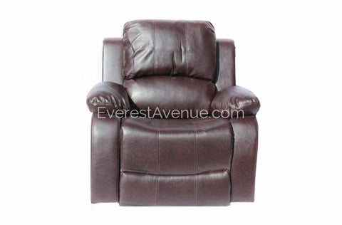 Lincoln - Motion Chair  in Brown or Black Bonded Leather