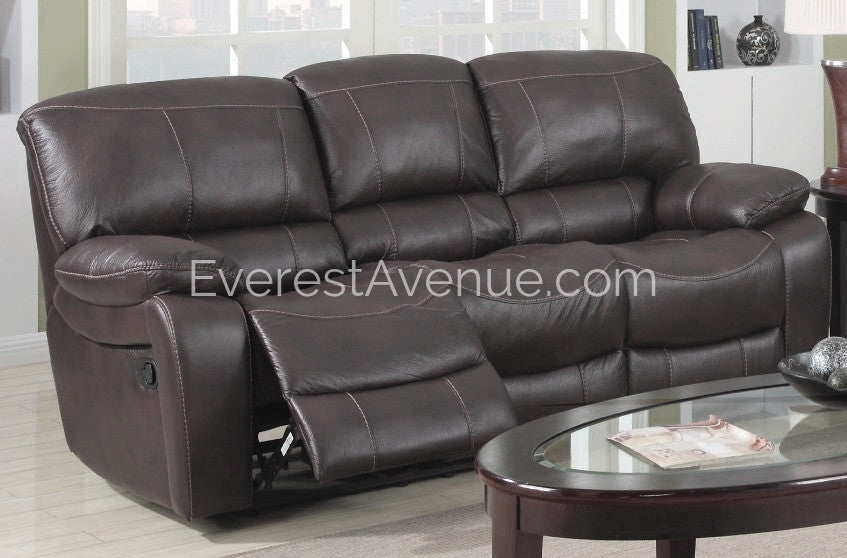 Delightful Columbus   Sofa   Sturdy Chocolate Flush Pull Sofa Recliner In Thick  Durable Distressed Leather