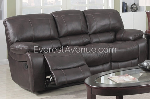 Columbus - Sofa - Sturdy Chocolate Flush Pull Sofa Recliner in Thick Durable Distressed Leather
