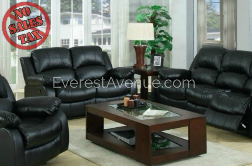 Lincoln   Living Room Set In Brown Or Black Bonded Leather Part 90