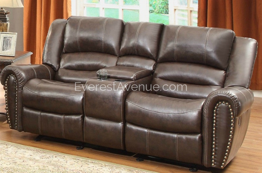 Hyden - Double Glider Power Recliner Loveseat with Center Console