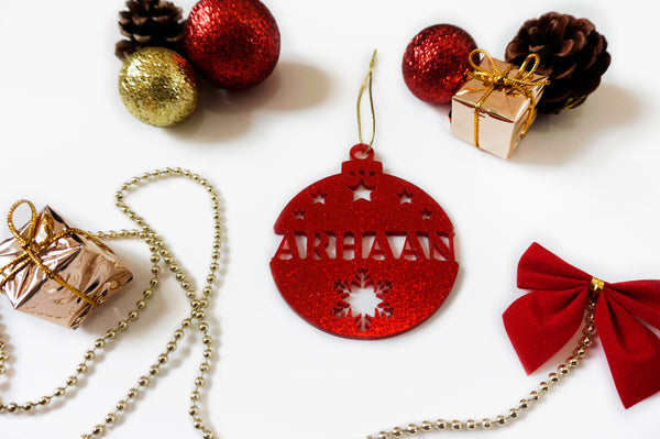 Personalised Christmas Ornament - Flat