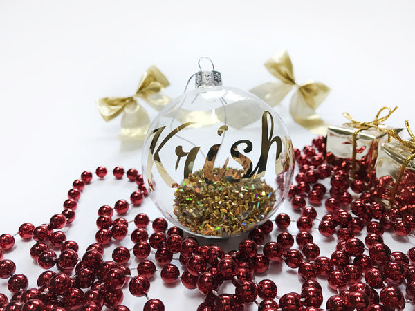 Personalised Christmas Ornament - Baubles