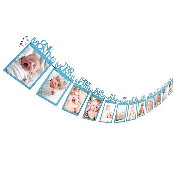 Baby's First Birthday 1-12 month Bunting Banner
