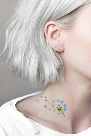 7d78cba20 PAISELY DELICATE COLORFUL WATERCOLOR FLORAL FLOWER & DREAMCATCHER TEMPORARY  TATTOO